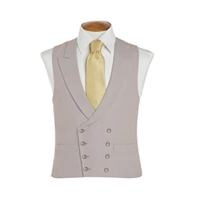 Oliver Brown - Double breasted wool waistcoat (Grey) (Waist 38) (Regular 62c53791f
