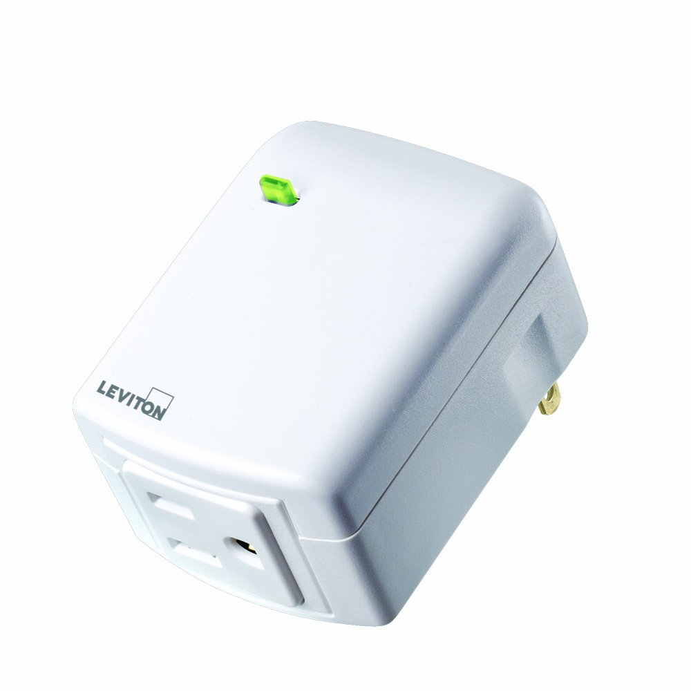 Leviton DZPA1-1BW Decora Z-Wave Controls 15-Amp Plug-In Appliance Module, White, Works with Alexa (Old Model)