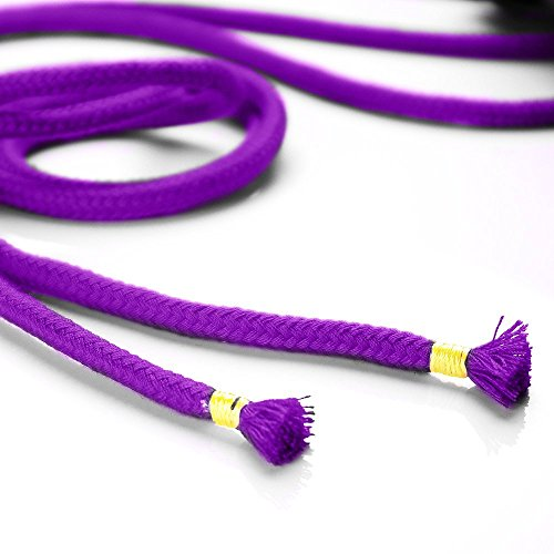 BONTIME All-Purpose Soft Cotton Rope - 32 Feet Length,1/3-Inch Diameter (Purple,Pack of 3) by BONTIME (Image #5)
