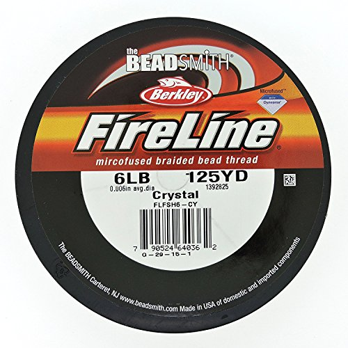 (FireLine Braided Beading Thread 6 pound-test Clear .006 Inch Average Diameter 125 Yards)