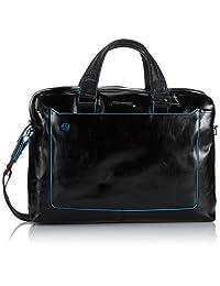 Piquadro Double Handle Computer Briefcase, Black, One Size