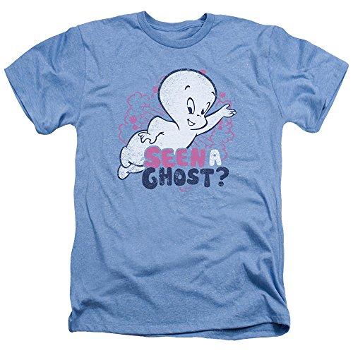 Casper The Friendly Ghost Cartoon Seen A Ghost? Faded Retro Adult HA T-Shirt ()
