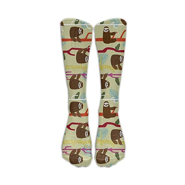 Cute Sloth Unisex Funny Pattern Crew Socks Stockings Boy'S Girl'S -