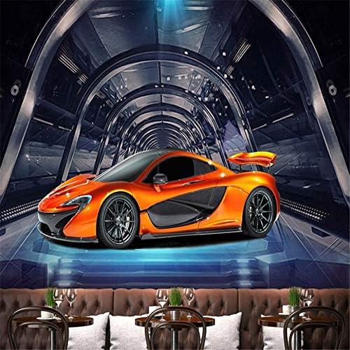 Hxcok カスタム3D写真の壁紙メタルテクスチャスポーツカー大壁絵画バーレストランリビングルーム家の装飾壁画デparede-350X250CM