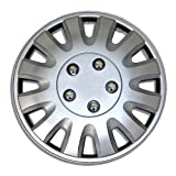 1987 chevy caprice hub caps - TuningPros WSC-738S15 Hubcaps Wheel Skin Cover 15-Inches Silver Set of 4