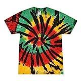 Colortone Tie Dye T-Shirt 3X Rasta Web