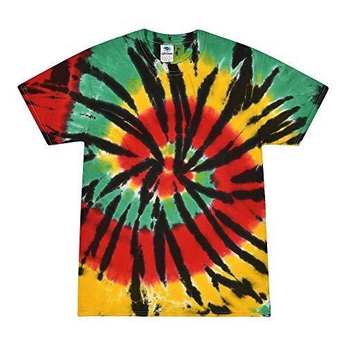 Colortone Tie Dye T-Shirt XL Rasta Web