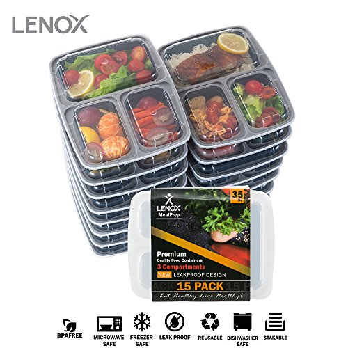 Food Storage Container 15-PACK Meal Prep