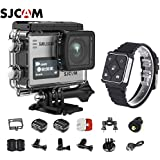 SJCAM SJ6 Kit Including Extra Battery, SJCAM Remote Watch SJ6 LEGEND Dual Screen 2″ LCD Touch Screen 2880×2160 Novatek NT96660 Panasonic MN34120PA CMOS 4K Ultra HD Sport DV Action Camera Silver