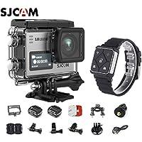 SJCAM SJ6 Kit Including Extra Battery, SJCAM Remote Watch SJ6 LEGEND Dual Screen 2″ LCD Touch Screen 2880×2160 Novatek NT96660 Panasonic MN34120PA CMOS 4K Ultra HD Sport DV Action Camera Silver
