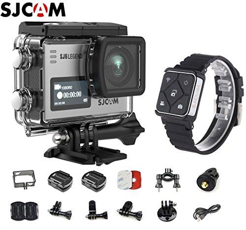SJCAM SJ6 Kit {Including Extra Battery, SJCAM Remote Watch} SJ6 LEGEND Dual Screen 2″ LCD Touch Screen 2880×2160 Novatek NT96660 Panasonic MN34120PA CMOS 4K Ultra HD Sport DV Action Camera Silver
