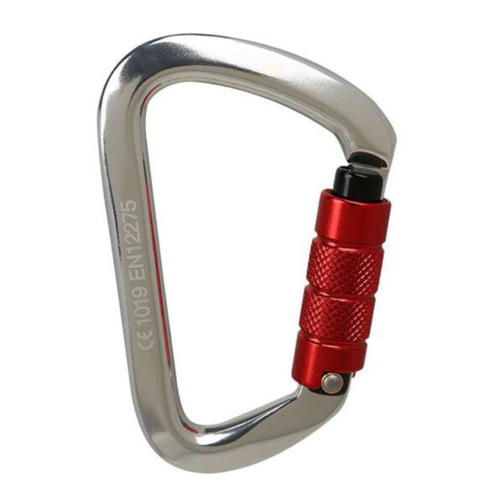 LAIABOR Mousquetons sécurité Master Lock Professionnel d'escalade de Roche Serrure Principale D-Type Serrure Automatique de sécurité d'équipement de mousquetons