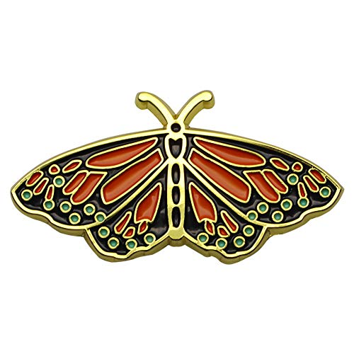 Enamel Butterfly Pin - CUFTS Monarch Butterfly Enamel Pin Accessories Hat Pin Social Butterfly Brooch Jewelry Gift for Her