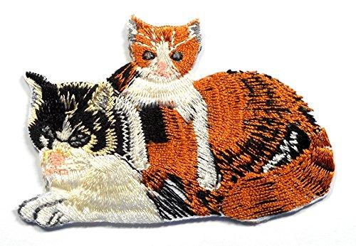 【ノーブランド品】アイロンワッペン ワッペン 動物・魚・生き物ワッペン 刺繍ワッペン ネコ 猫 アイロンで貼れるワッペンの商品画像