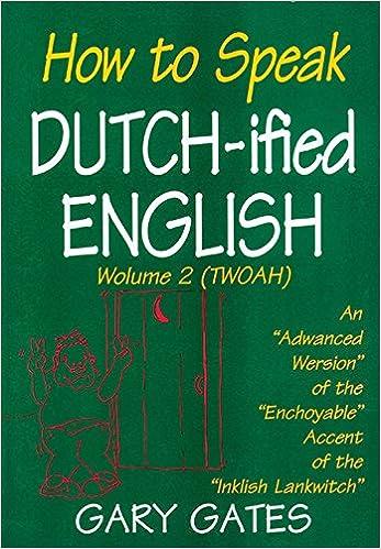 Book How to Speak Dutchified English, Volume 2