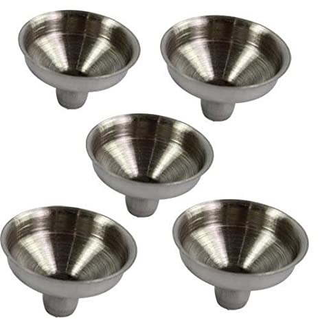 OPPOHERE Stainless Steel Mini Funnel for Essential Oil Bottles / Flasks (2PCS)