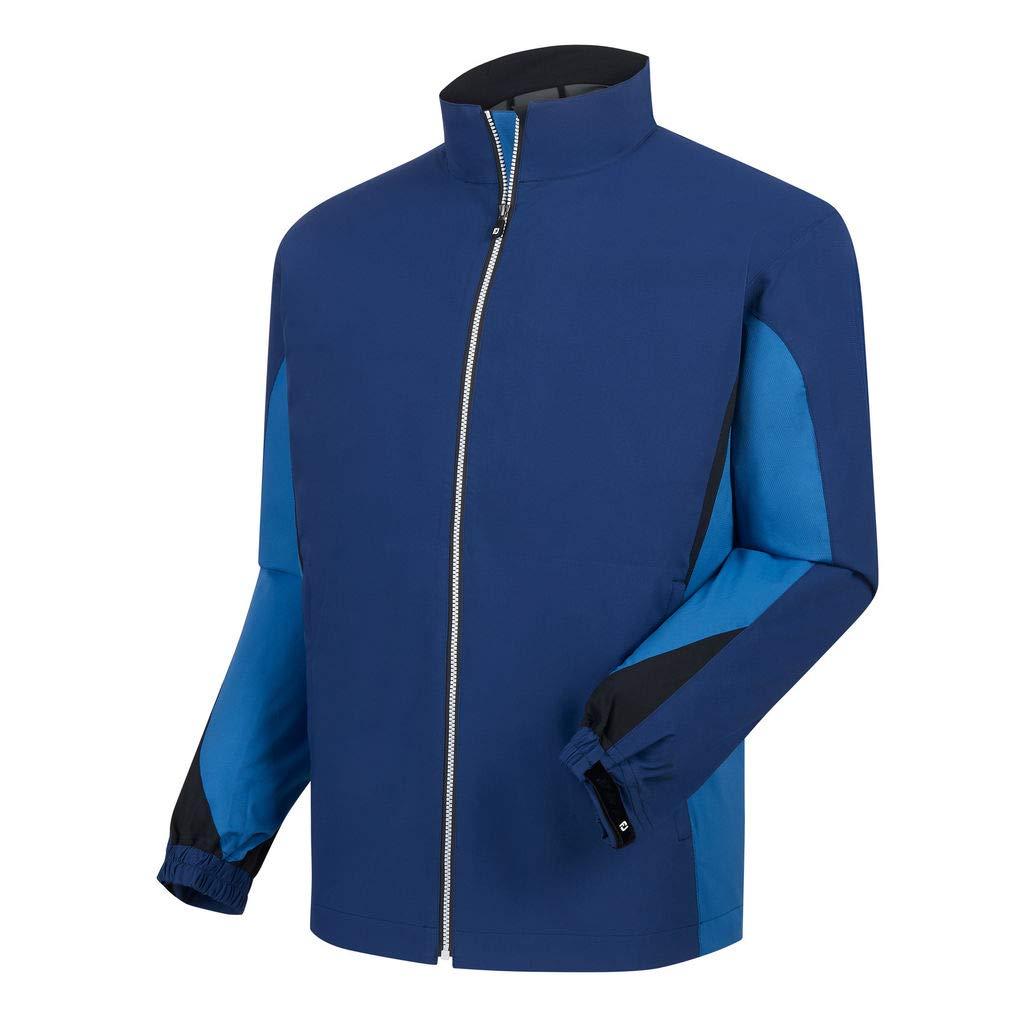 Footjoy Men's DryJoys Hydrolite Rain Jacket (Twilight/Blue Marlin, Small)