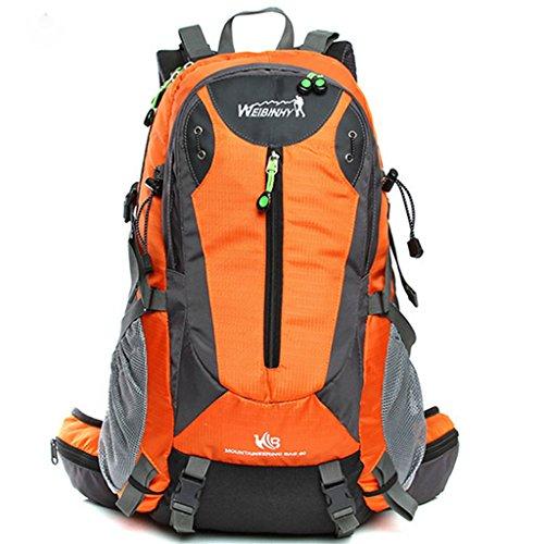 bolsa de viaje ligera mujeres de los hombres del bolso de hombro al aire libre del alpinismo del paquete 40L mochila naranja