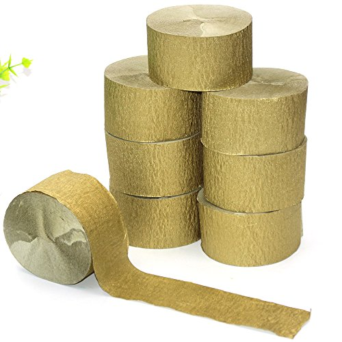 gold paper streamers - 7