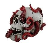 "Octopus Skull Kraken Abyss Lurks Within Statue Figure 7.75"" H"
