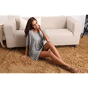 Aibrou Donna Camicia da Notte Pigiama T-Shirt Vestito Sciolto Plus Size Scollo a V Pigiama Modal Donna