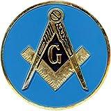 "Masonic Exchange Blue Lodge 3"" Auto Emblem Decal"