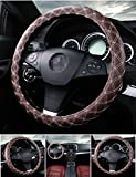 Steering wheel covers fit middle size steering wheels with outer diameter of 15 inch.Exquisite color match, to meet the needs of more people.Fit the steering wheel body, curvature of the elegant more docile.Suitable for all steering ve...