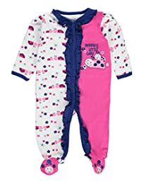"Weeplay Baby Girls' ""Mommy's Little Lady"" Footed Coverall"