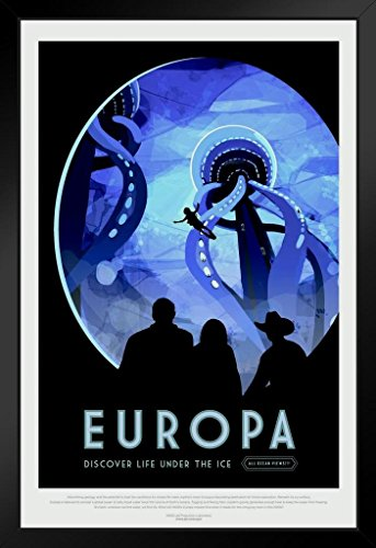 - Europa NASA Space Travel Framed Poster by ProFrames 14x20 inch
