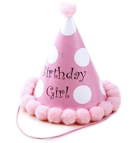 KIRALOVE - Sombrero - Cono - Punta - Cumpleaños - Para niña ...
