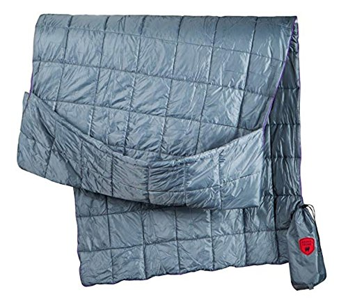 Grand Trunk Tech Throw Travel Blanket: Slate Gray: Ultra Lightweight Portable Travel and Camping Blanket with Warm Cozy Foot Pocket: Great Blanket for Outdoors, Camping, and Hammocking by Grand Trunk