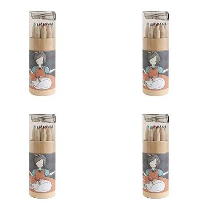 Chakil - Juego de 4 cajas de lápices de colores con ...