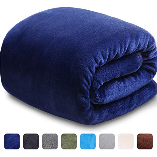 - LEISURE TOWN Soft Blanket Throw Size 3D AIR-Fiber Fleece Cooling Blankets for All Season Lightweight Warm Luxury Cozy Plush Throw Blanket for Sofa Travel Couch, 50 by 60 Inches, Royal Blue
