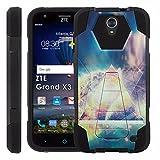 ZTE [Uhura Grand X3] Z959 Proton Guard Dual Layer Phone Case - Wikka Triangle