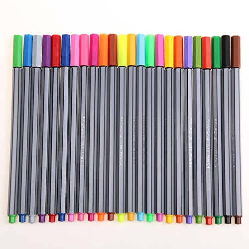 Colorful Pen Art Fine Professional Watercolor Pens Art Office Painting by Office & School Supplies YingYing (Image #6)
