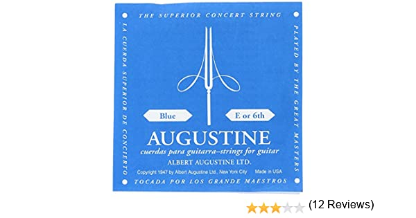 Augustine Cuerdas para Guitarra Clásica, Azul, Mi6, Tensión Alto ...