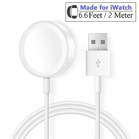 Cargador para Apple Watch Reloj 2M/6.6FT Cable de Carga magnético ...