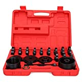Ambienceo 23pc FWD Front Wheel Drive Bearing Adapter Install Removal Service Puller Pulley Tool Kit with Case