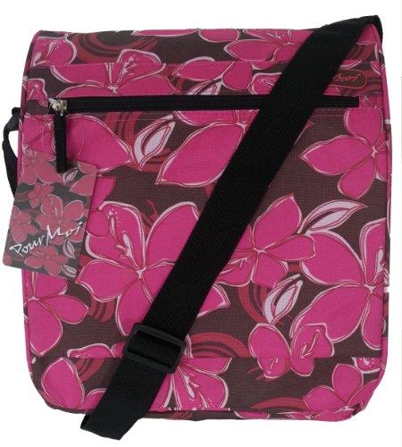 Rosa bolso de hombro brillante o niñas bolsa. Bolsa de viaje CABINA APROBADO estampado floral