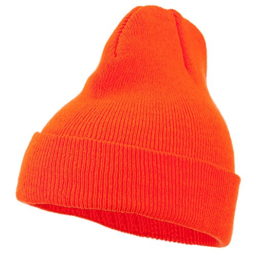 Super Stretch Knit Watch Cap Beanie - Blaze Orange OSFM (Super Stretch Knit Hat)
