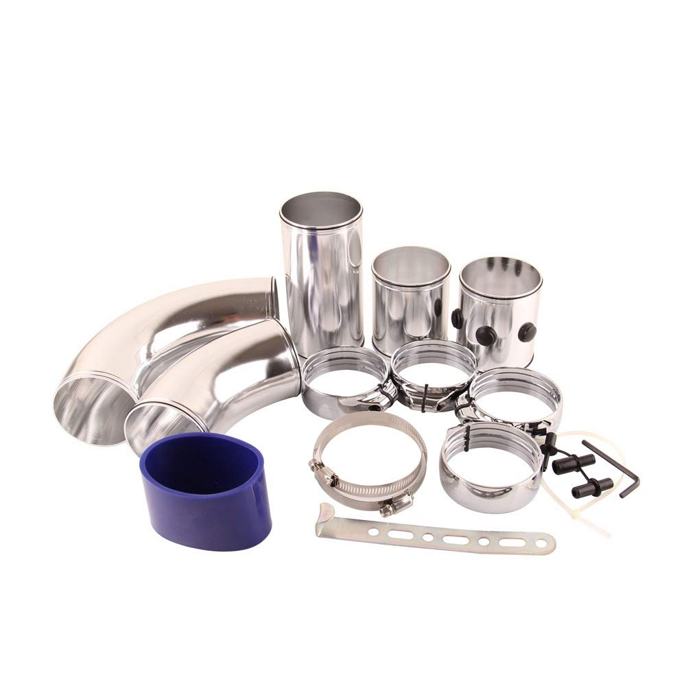 HERCHR Automobile Universal Air Intake Modification,Aluminum Tube kit Multi-function Take-over