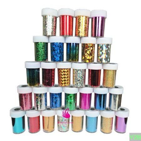 EVERMARKET Fashion 25 colors Nail Art Transfer Foil Nail Sticker Tip Decoration from Y2B