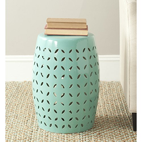Light Blue Ceramic Garden Stool