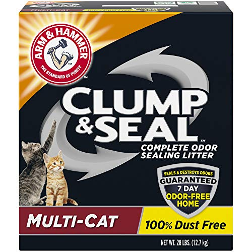 Arm & Hammer Clump & Seal Litter, Multi-Cat, 28 Lbs (Arm And Hammer Clump And Seal 28 Lbs)