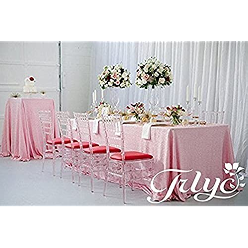 Tablecloths for wedding party amazon trlyc 60102 high quailty rectangle blush pink sequin table cloth for wedding and party junglespirit Image collections