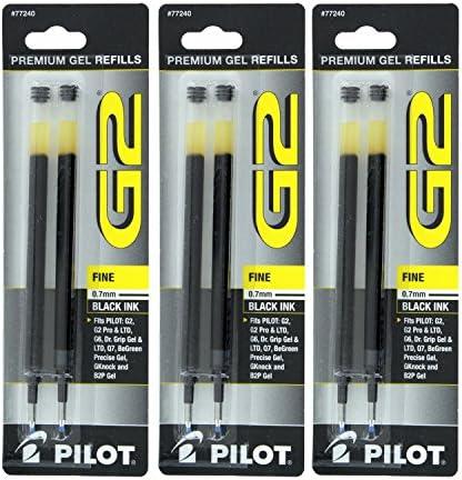 Begreen G-Knock ExecuGel e B2P bol/ígrafos BLS-G2-7 G23 G2ex 3 unidades alfagel Gel-X Pilot Pen G207 negro recarga de tinta Gel recambio para G2