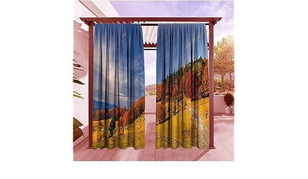 AndyTours - Cortina para Puerta con diseño de Hojas de Arce Canadiense: Amazon.es: Jardín