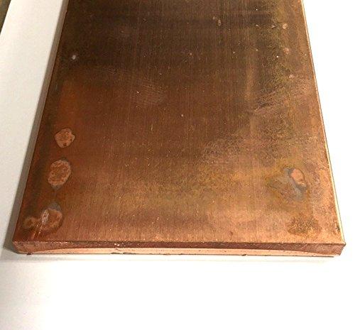 C110 Copper Bar - 1/2'' x 5'' x 12'' by Taurus Copper