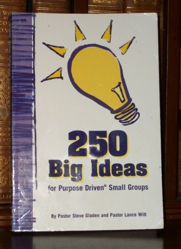 Group Ideas (250 Big Ideas for Purpose Driven Small Groups)