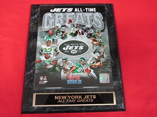 - New York Jets All Time Greats Collector Plaque w/8x10 Photo